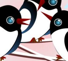 Winter Birds Christmas Wish - Cute Tee Sticker