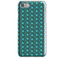 Turquoise&blue retro floral stripes iPhone Case/Skin