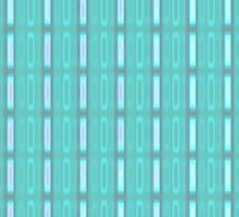 Blue stripes with little rectangles- pattern by CatchyLittleArt
