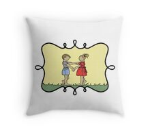 Lonny and Sprocket Throw Pillow
