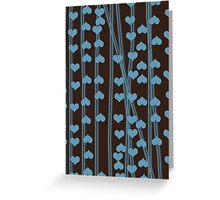 Blue hearts retro design Greeting Card