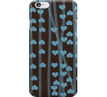Blue hearts retro design iPhone Case/Skin