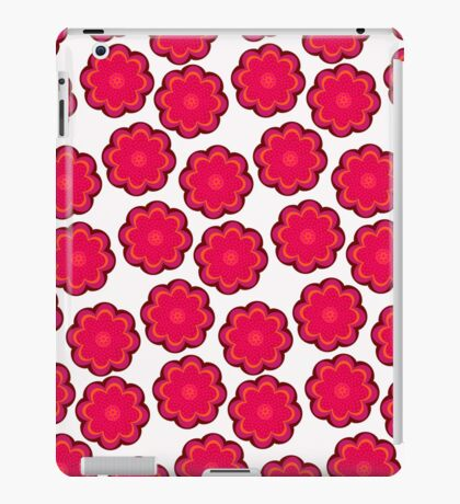 Red flowers on snow iPad Case/Skin