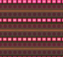 Pink rectangles on beautiful background by CatchyLittleArt