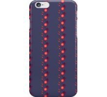 Orange floral pattern on dark violet iPhone Case/Skin