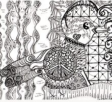 Peace Dove Zentangle by SunfluerDesigns