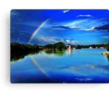 reflected rainbow  Canvas Print