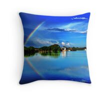 reflected rainbow  Throw Pillow