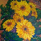 Vives Marguerites / Dancing Daisies by MarieDaoust