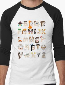 P&F Alphabet Men's Baseball ¾ T-Shirt