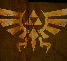 Zelda Wall Mural Poster Triforce War Torn by Packmania
