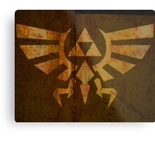 Zelda Wall Mural Poster Triforce War Torn Metal Print