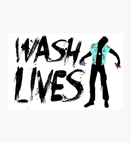 Wash Lives Photographic Print