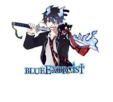 blue exorcist rin and kitty anime design  by tylerlions777