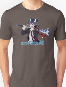 blue exorcist rin and kitty anime design  T-Shirt
