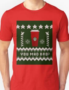 Parody - Starbucks Cup - Ugly Christmas Sweater T-Shirt