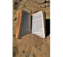Book in the Sand Photographic Print