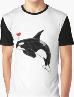 Cute Killer Whale Graphic T-Shirt