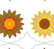 Sunflower variations sticker sheet Sticker