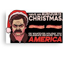 A Ron Swanson Christmas V.2 Canvas Print