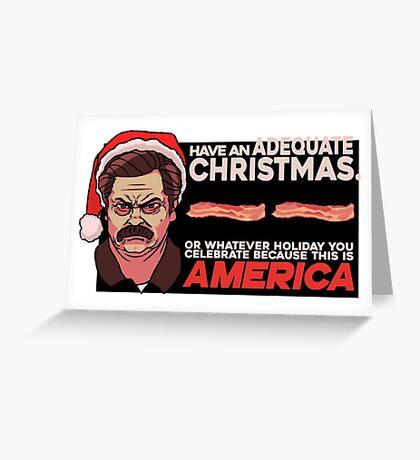 A Ron Swanson Christmas V.2 Greeting Card