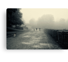 Walking the dogs Canvas Print