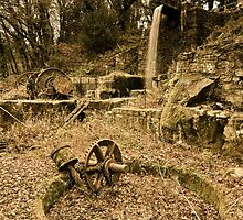Old Water Wheel Works Luxulyan Valley by dalekenworthy