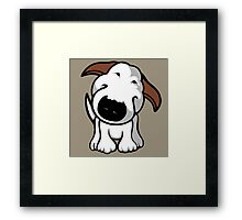 Really? Bull Terrier Framed Print