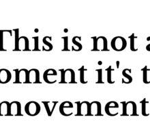 The Movement Sticker