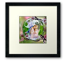 Hidden in the Branches ! Framed Print