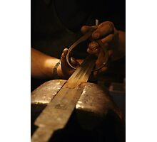 The Making of Medieval Sword In Progress Photographic Print