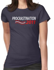 Vote Procrastination Womens Fitted T-Shirt