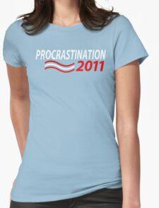 Vote Procrastination Womens Fitted T-Shirt