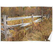Alberta Ranchlands - Abandoned Corral in Autumn Poster