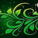 Jewel Card : Green by Junior Mclean