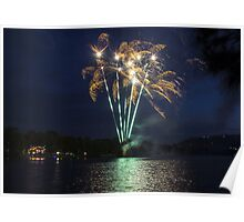 Narrabeen lakes fireworks Poster