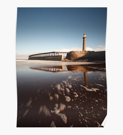 Whitby - Lighthouses and Pier Poster