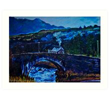 Somewhere in Donegal, painted from a photo by Jane McLaughlin Art Print