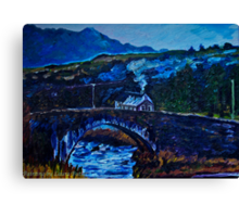 Somewhere in Donegal, painted from a photo by Jane McLaughlin Canvas Print