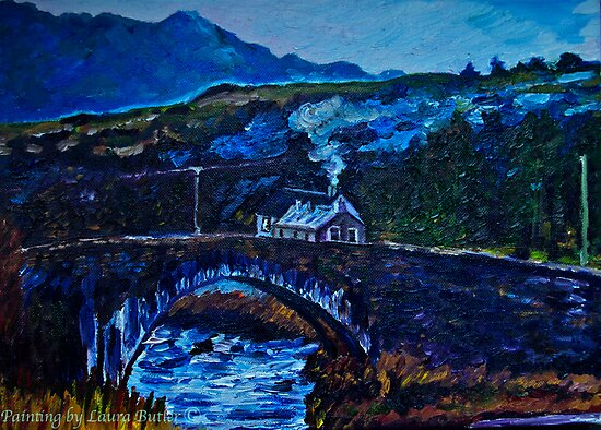 Somewhere in Donegal, painted from a photo by Jane McLaughlin by Laura Butler