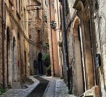 Winding Lane-Todi, Italy by Deborah Downes