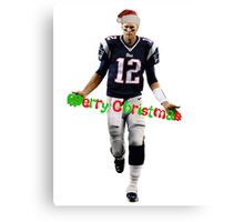 Tom Brady Christmas Canvas Print