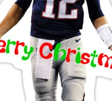 Tom Brady Christmas Sticker