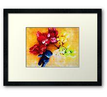 Colourful bears Framed Print
