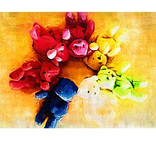 Colourful bears Photographic Print