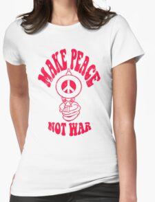 Make Peace Not War logo Womens Fitted T-Shirt