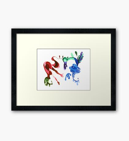 The Jester and the Peacock Framed Print