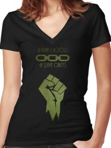 BioShock - A man Chooses Women's Fitted V-Neck T-Shirt