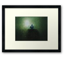 Enjoy the silence Framed Print