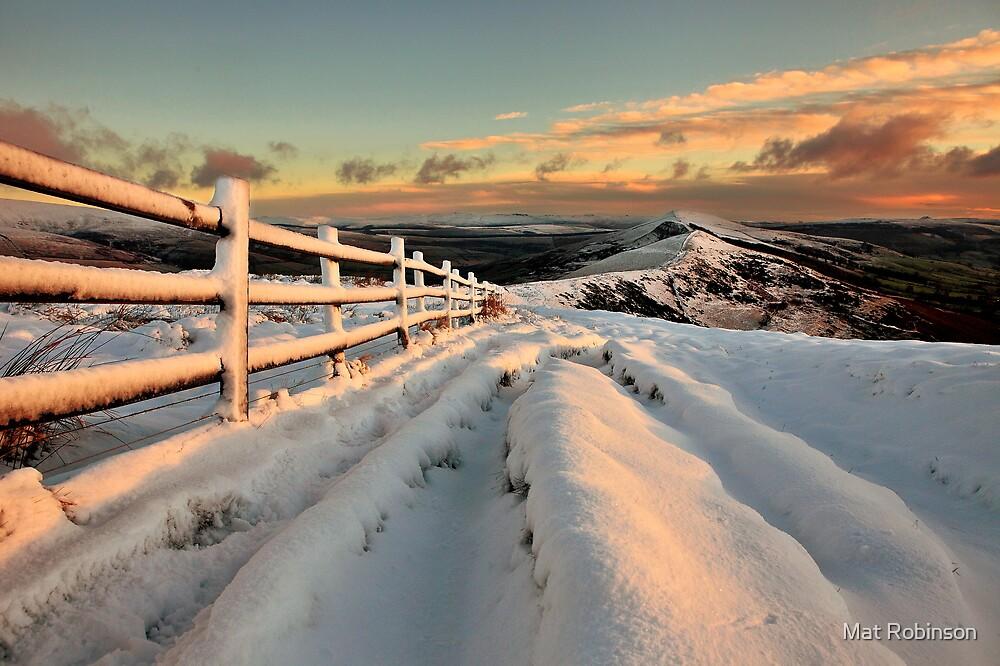 Snowy Mam Tor by Mat Robinson